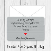 Personalised Sentimental Boyfriend Girlfriend Metal Wallet Card Birthday Gift