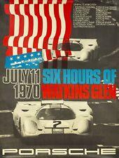 ORIGINAL 1970 PORSCHE POSTER 917 SIX HOURS WATKINS GLEN 101x76cm Plakat Strenger