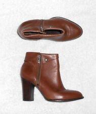 SAN MARINA bottines zippées cuir marron P 36 = 36½ TBE