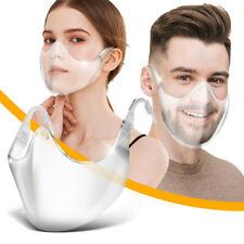 1/4/10/50Pcs Durable Mask Face Shield Combine Plastic Reusable Clear Face Mask