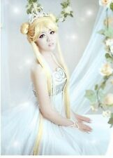 New cosplay Fashion Sailor Moon golden Mixed wig long 100cm
