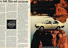 PUBLICITE ADVERTISING 064  1982  VOLVO 345   ( 2 pages)