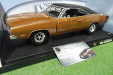 DODGE CHARGER R/T 1969 marron 1/18 HOT WHEELS 50423 voiture miniature collection