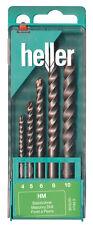 Heller 5 Pieza velocidad 3015 mampostería Drill Bit Set Herramientas alemana de calidad 4 Mm - 10 mm