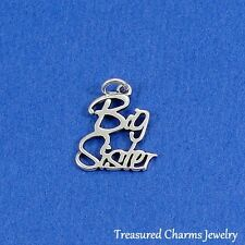 .925 Sterling Silver BIG SISTER CHARM Family Sisters PENDANT