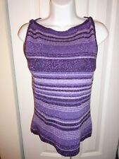Eye Candy Striped Stretch Sleeveless Knit Top Shirt - Size L