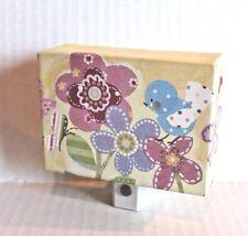 Oopsy Daisy Winborg Blue Birdie & Flowers Canvas Floral Print Nightlight