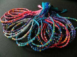 Girls bracelets 3,5,10,15 pcs friendship sparkley wristband set party bags
