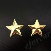 2pcs Golden Metal Pentacle Pentagram CPC Car Trunk Emblem Badge Decal Stickers