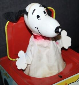 Vintage MATTEL Matty Mattel Presents SNOOPY IN THE MUSIC BOX