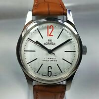 Vintage Roamer Mechanical Hand Winding Movement Mens Analog Wrist Watch AB338