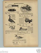 1951 PAPER AD Johnson's Waterproof Paper Duck Decoys Deeks Rubber Tenite Goose