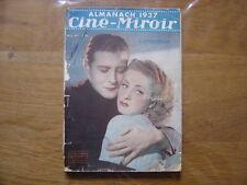 1937 ALMANACH DU CINEMA edité par le Petit Parisien D Darrieux Shirley Temple