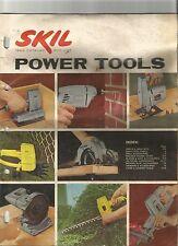 Skil Power Tool Catalog Drills Saws Grinders Sanders 1962