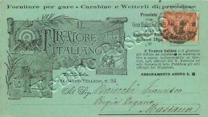 Pubblicità giornale Il tiratore italiano, carabine e vetterli di precisione