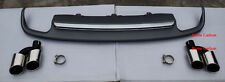 S6 Style Rear Diffuser With Exhaust Tips For 2012 2013 2014 2015 Audi A6 Only