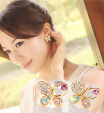 Earrings -  Crystal Butterflies