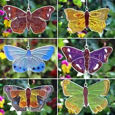 Christmas Butterfly Suncatcher stained glass window sun garden hanging home gift