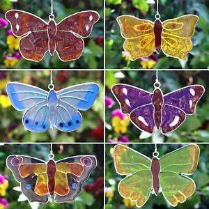 Butterfly garden Suncatcher stained glass window sun light hanging home gift