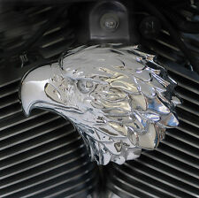 Eagle horn cover in polished aluminum.  '92-up Harley-Davidson. EAG-MG1