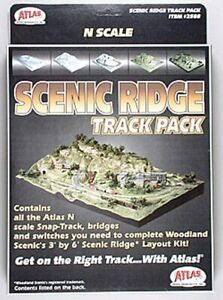 Atlas 2588, N, Scenic Ridge Track Pack For Woodland Scenics Scenic Ridge Layout