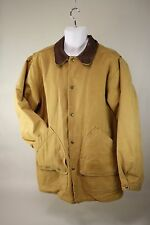 Mens Woolrich Canvas Barn Jacket Wool Blanket Lined Indian Head Snaps SZ M USA