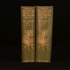 1921 2vol Trees and Shrubs W J Bean British Isles Illustrated Horticulture
