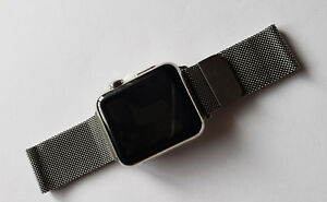 Apple Watch 42mm 316L Stainless Steel with Silver Metal Band - NO POWER & TAPED