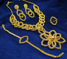 Bollywood Ethnic Indian Women Goldplated 4PC Necklace Set Party New Jewelry