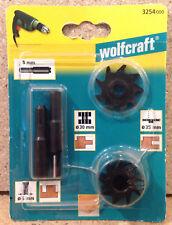 Wolfcraft Universal Fräsersatz Federfräser Scheibennutfräser Nutfräser 3254000