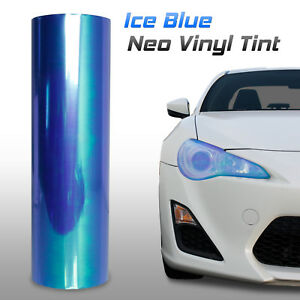 "12""x24"" Chameleon Neo Light Blue Headlight Fog Tail Light Vinyl Tint Film (c)"