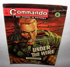 *Commando - War Stories In Pictures- Under The Wire- No'460, 1970 1'-  PB