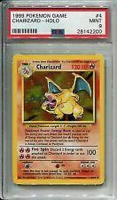 WOTC Pokemon 1999 Base Set Card #4 Charizard PSA 9