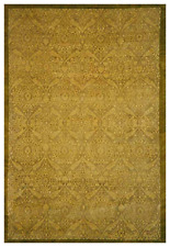 6x9 One-of-a-kind Hand Knotted Area Rug Transitional Design Wool