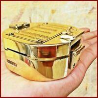 Antique Maritime  Brass Vintage Brunton Compass Nautical Direction