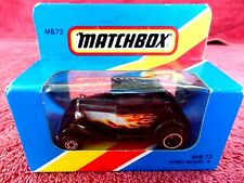 MATCHBOX  1981  MB 73  FORD  MODEL  A  [BLACK FLAMES] MADE  IN  MACAU  UNOPENED