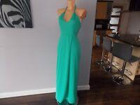 AQAQ Aqua By Aqua Alter Neck Green Scoop Back Maxi Dress. UK 12