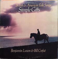 Benjamin Luxon & Bill Crofut - Simple Gifts LP VG+ CX546 1980 1st Cousin Jacks