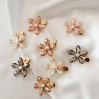 Fashion Girls Crystal Flowers Hair Clips Stick Barrette Hairpin Hair Accessories