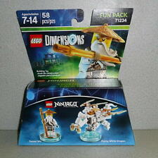 2015 LEGO Dimensions NINJAGO SENSEI WU & DRAGON Fun Pack Set #71234 *NIB
