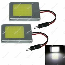 Pair Car 48 Chips COB LED Panel Dome Ceiling Bulb With T10 Festoon Adapter ZJ319