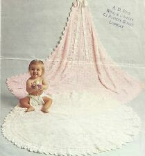 BABY CIRCULAR & SQUARE SHAWL KNITTING PATTERN 3 PLY  (1073)