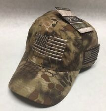 Tactical Operator Hat Ball Cap Military American Flag Highlander Camo Baseball