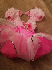 Girls Small Dance Costume Pink Ruffles