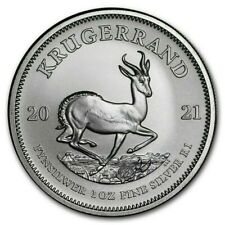 More details for 2021 silver krugerrand - 1 oz south african silver coin in prophila capsule