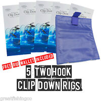 2 Hook Clip Down Rigs And Free Sea Fishing Rig Wallet sea fishing rigs
