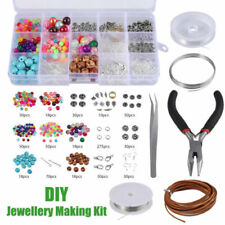 DIY Jewelry Making Kit Supplies Findings Starter Plier Beading Tool Accessories