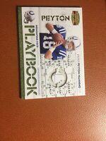2008 Donruss Gridiron Gear - Peyton Manning - Playbook  Jersey Relic #'d 98/250