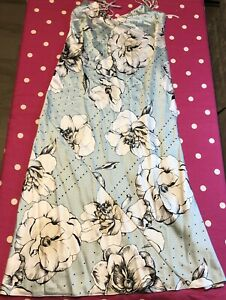 NWOTS Victoria's Secret Long sexy nightgown Blue with Flowers Size M