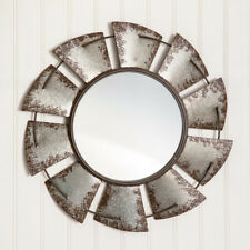 Windmill new large Wall mirror in distressed Tin